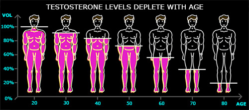 testosterone levels decline with age